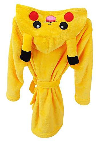 Dolamen Kinder Jungen Mädchen Morgenmantel Bademäntel Kapuzenpullover Korallenvlies Kigurumi Karikatur Nachtwäsche Nachthemd Schlafanzug (140 fit für Höhe 130-140CM (51