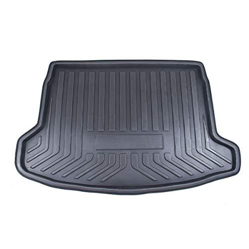 QREAEDZ Cargo Heck-Kofferraum-Matte-Deckel-Bodenmatten Teppich-Mud-Kick-Tablett-Boot-Liner/Fit für Nissan Qashqai Dualis J11 2014 2015 2016 2017 2018 2018 2018 (Color : Black)