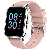 GOKOO Smartwatch Mujer Hombres Reloj Inteligente con Pantalla Táctil Reloj Deportivo Bluetooth Rastreador de Actividad Deportiva (Rosa)