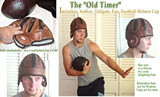 Old Timer Imitation Leather Football Helmet Cap
