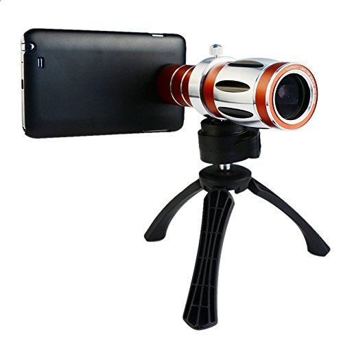 Apexel Lens Kit Inclusief 8x Handmatige Focus met Mini Statief en Universele Telefoonhouder