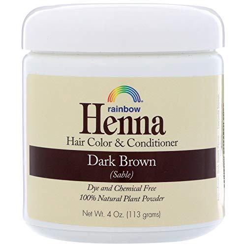 Rainbow Research Henna, Hair Color & Conditioner, Dark Brown (Sable), 4 oz (113 g)