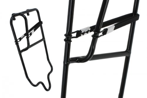 Fairdale Bike Rack Pannier Skateboard, Black