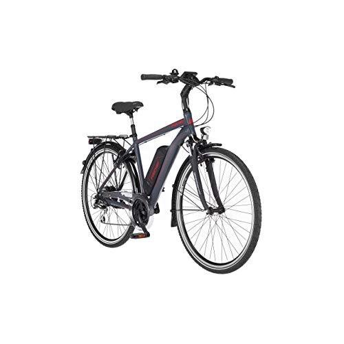 FISCHER Herren - Trekking E-Bike ETH 1806.1, Elektrofahrrad, dunkel anthrazit matt, 28 Zoll, RH 50 cm, Hinterradmotor 45 Nm, 48 V/557 Wh Akku
