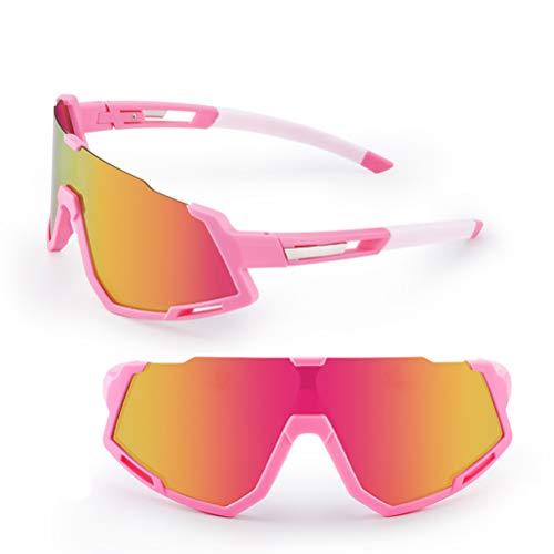 Yunobi - Gafas de sol polarizadas para ciclismo, deportes a prueba de viento polarizadas con marco interior desmontable de miopía para hombres y mujeres, correr y pescar