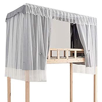 Felice Student College Dorm Bedroom 1.2 m/ 4 feet Single Bed Bunk Bed Curtain Mosquito Net Blackout Dust-Proof Bed Canopy