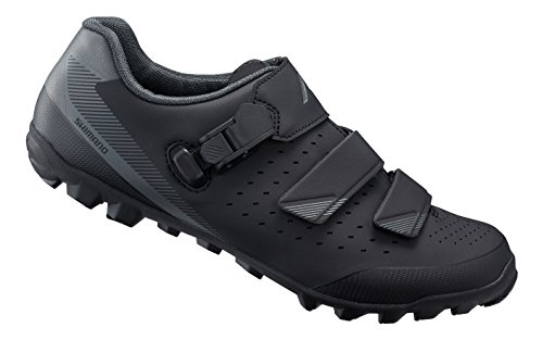 Shimano SH-ME301 - Zapatillas para Ciclismo (Mountain Bike Cycling Shoes, Adulto, Masculino, Negro, Monótono, Boa Closure, Cierre de Velcro)