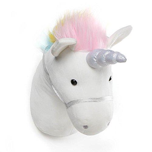 GUND Unicorn Plush Head Stuffed Animal Hanging Wall Décor, White, 15'