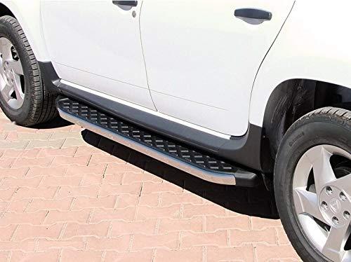 Trittbretter passend für Dacia Duster ab Baujahr 2018 Model Hitit Chrom mit TÜV und ABE