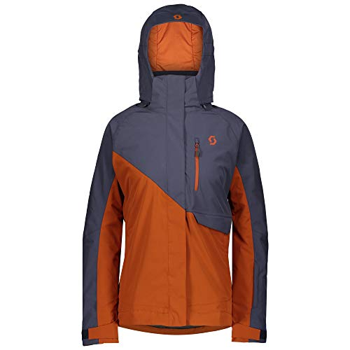 Scott W Ultimate Dryo 10 Jacket Colorblock-Blau-Orange, Damen Regenjacke, Größe L - Farbe Blue Nights - Brown Clay