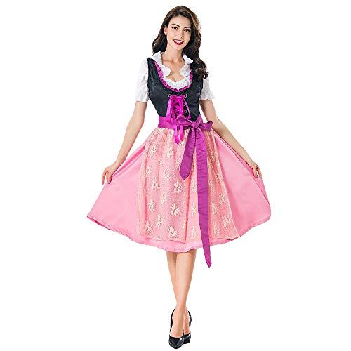 Snakell Karneval kostüm Halloween kostüm Cosplay Cosplay kostüme faschingskostüme Oktoberfest Kostüm perücke Dirndl weihnachtskostüm Damen Bayerisch Bier Mädchen Dienstmädchen Kleid