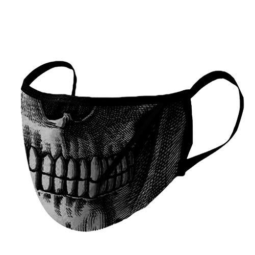 Lomelomme Lustig Print Staubschutz Waschbar Wiederverwendbar Mundschutz Atmungsaktive 3D Motiv Mund und Nasenschutz Gesichtsabdeckung für Damen und Heren