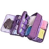 Large Capacity Travel Multi-function Underwear Organize Storage Bag, Bra/Socks/Cosmetic Accessories Toiletry Accessory Bag for Men Women