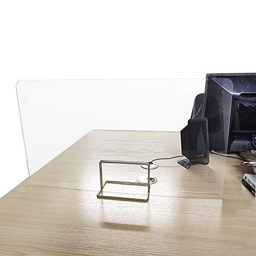 AHMI Spuckschutz Thekenaufsatz Transparent Trennwand Für Die Theke Arztpraxis Apotheke Kasse PVC Schutz Mitarbeiterschutz Aufsteller Tisch Metall Trennwand Bürotisch Klasse Kassierer 40X35X40