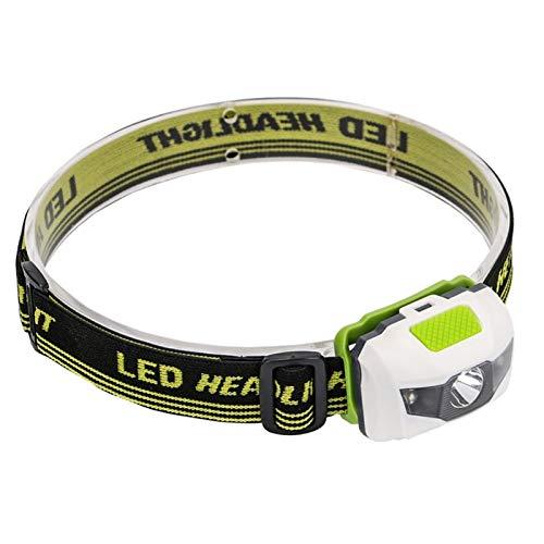 YSQSPWS Linterna Frontal Led Portátil Mini Faro 4 Modos Faro Encabezado Flashlight Antorcha Lámpara Luz Senderismo Camping Luz para Pesca Montar Ciclismo Deportes al Aire Libre (Body Color : Green)