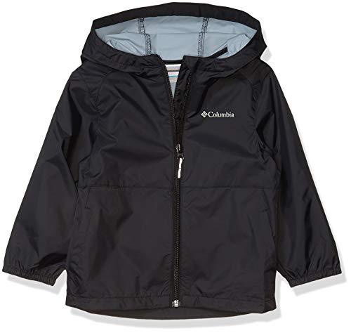 Columbia Girls' Big Switchback II Waterproof Jacket, Black, Large