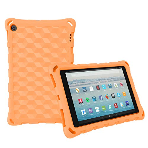 All-New 10 Tablet Case for Kids - Mr.Spades Kids Shockproof EVA Foam [Kids Friendly] (Compatible with 9th Generation 2019 & 7th Generation 2017) - Orange