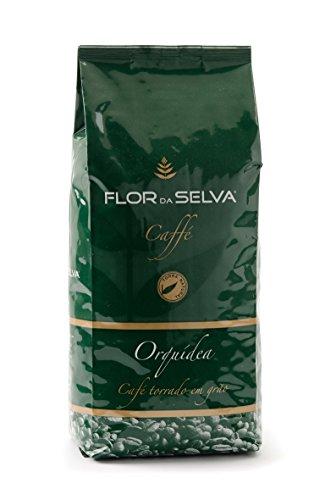 FLOR DA SELVA Caffé Orquidea ganze Bohne, 1 x 1kg, Gourmetkaffee aus Lissabon, traditionell mit Holz geröstet, ohne Konservierungsstoffe