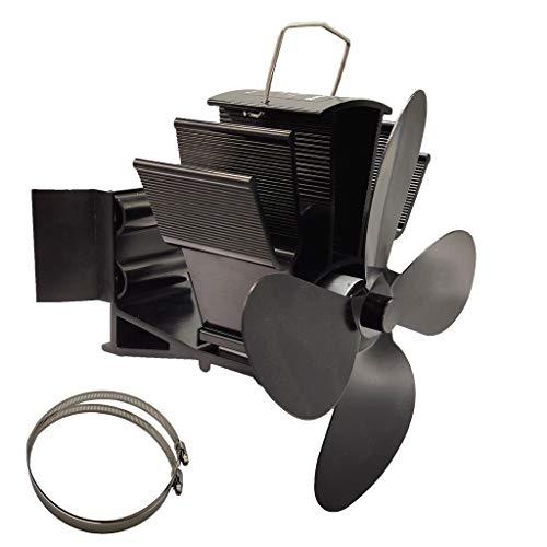 SUCHUANGUANG 4 Blätter Wärmebetriebener Kaminofen Hängender Kamin Lüfter Herd Lüfter BK Eloxiertes Aluminium