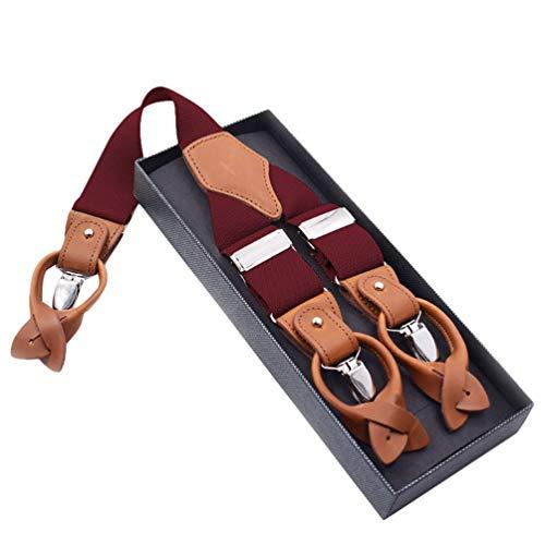 Yijinstyle Herren Übergröße Y-Förmige Hosenträger Klassische Hoch Elastische Verstellbare Hosenträger (Stil#5)