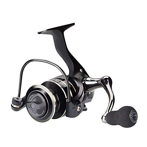 lxxiulirzeu Bobina da Pesca in Metallo in Metallo AC2000-AC7000 Series 5-8 kgmax Trascina la Bobina da Pesca di Potenza per la Pesca del Bass (Color : Black, Spool Capacity : 5000 Series)