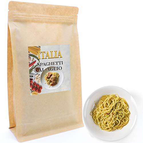 Al'Aglio Gewürz 200 g | Klassisch italienische Gewürzmischung für Spaghetti Al'Aglio, Aglio e Olio oder Aglio e Olio e Peperoncino | Nachfüllpack | Gewürz