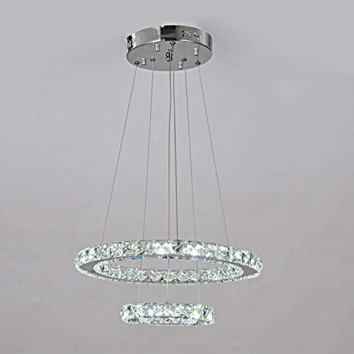 Lampadari classici a quartetto di cristallo a LED K9 e lampadario a sospensione a doppio cerchio