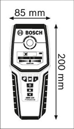Bosch Professional Digitales Ortungsgerät GMS 120 (1 x 9 V Block Batterie, Schutztasche, max. Ortungstiefe Stahl/Kupfer/stromführende Leitungen: 120/80/50 mm) - 8