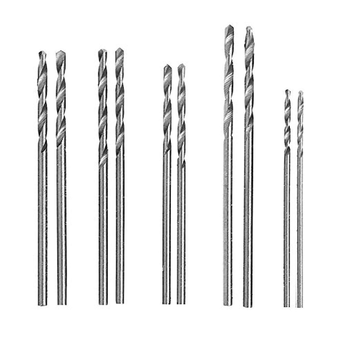 Misright 10Pcs HSS White Twist Drill Bit Set-1-1.5mm General Purpose For Glass Soft Metal Tile Stone