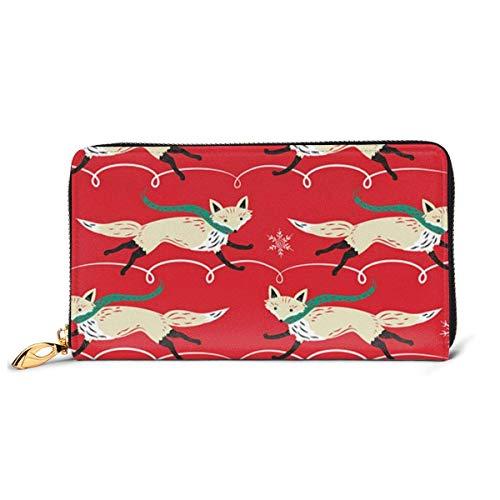 Womens hardlopen es op rode lederen portemonnee RFID blokkeren Rits rond portemonnee echt lederen koppeling portemonnee kaarthouder Travel portemonnee polsband