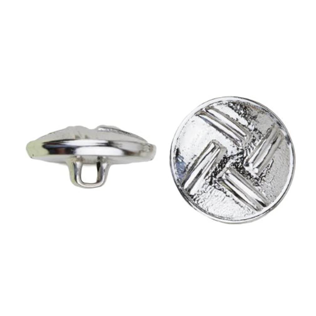 C&C Metal Products 5035 4 Dual Lines Metal Button, Size 30 Ligne, Nickel, 36-Pack