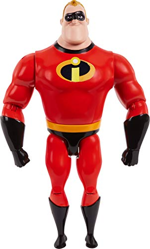 Pixar Mr. Incredible Figure True to Movie Scale Character Action Doll Highly Posable with Authentic Costumes for Storytelling, Collecting, The Incredibles Toys Kids Gift Ages 3 and Up