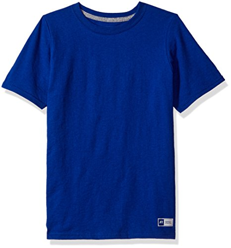 Russell Athletic Boys' Big Performance Cotton Short Sleeve T-Shirt, Royal, X-Large
