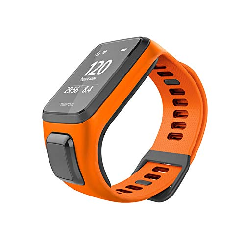 GZA Correa de muñeca de reemplazo de Silicona Suave y Colorida Original para Tomtom Runner 2 3 Spark 3 Smart Watch Pulsera (Color : Orange)