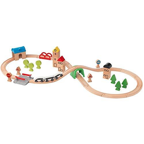 Ikea 203.300.66 LILLABO Eisenbahn-Set mit Schienen, 45-tlg