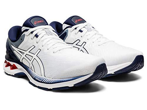 ASICS Men's Gel-Kayano 27 Running Shoes, 10.5M, White/Peacoat