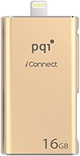[Apple MFi] iConnect 16 GB Mobile Flash Drive w/Lightning Connector for iPhones, iPads, iPod Mac & PC USB 3.0 (Rose Gold)