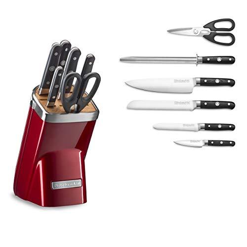 KitchenAid KKFMA07CA Professional Series 7 Piece Cutlery Set, Candy Apple Red