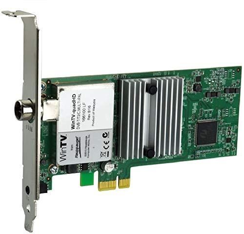 Hauppauge WinTV-quadHD - 01607 - HD PCI-Express Karte (DVB-T/T2 und DVB-C, bis zu vier verschiedene TV-Sender gleichzeitig anschauen oder aufzeichnen)