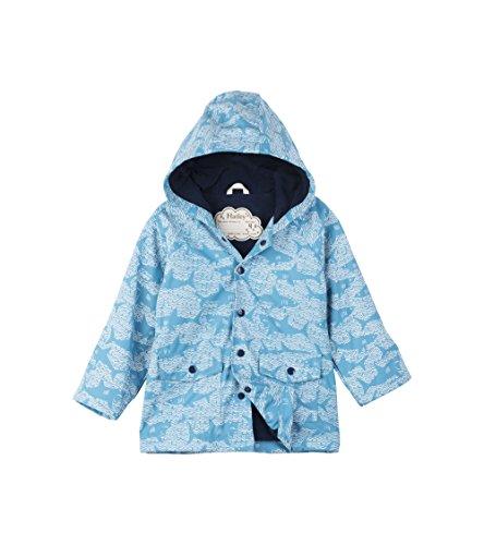 Hatley Hatley Baby-Jungen Mini Printed Raincoats Regenjacke, Blue (Shark Alley), 86