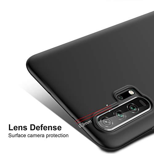 iBetter für Honor 20 Pro Hülle, Ultra Thin Tasche Cover Silikon Handyhülle Stoßfest Case Schutzhülle Shock Absorption Backcover Hüllen passt für Honor 20 Pro Smartphone (Schwarz) - 3