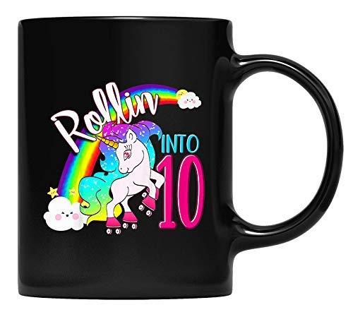 N\A Niños Unicornio patín de Ruedas décimo cumpleaños Taza niñas Unicornio Regalos