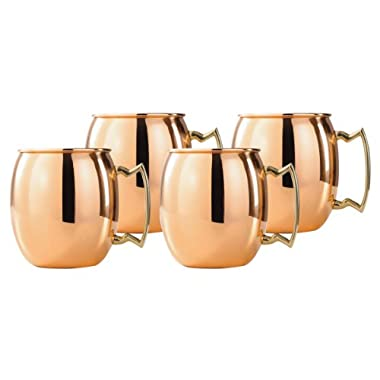 Old Dutch 16-Ounce Solid Copper Moscow Mule Mug, Set of 4