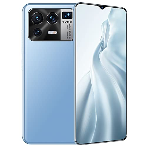 JYSSH Android 11 Smartphone, M12pro Teléfono Móvil Octa-Core 8GB + 256GB Pantalla Waterdrop HD+ 6.7 '', Cámara Triple 32MP+50MP Movil Barato Batería 5800mAh Dual SIM 4G Face ID/GPS,Blue-EU