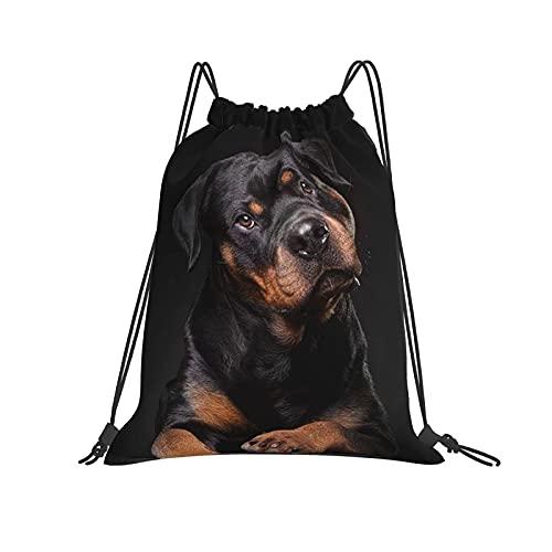 XXHGH0S Drawstring Bag Lovely Dog Beside Black Sofa . Drawstring Backpack Bag Anime Unique Design Sport Gym Sackpack