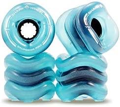 Shark Wheel 60 mm 78a Skateboard Wheels | California Roll | Transparent Blue (4-Pack)