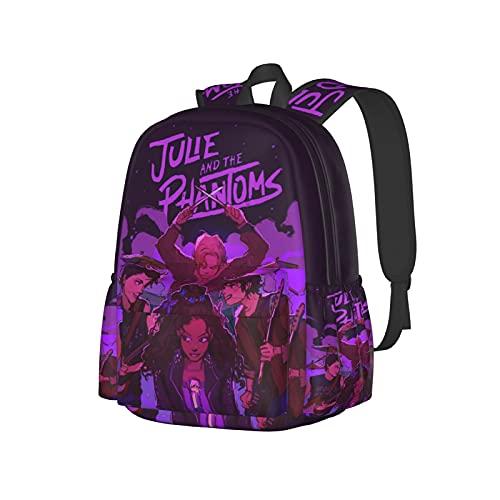 Mochila escolar unisex con impresión 3d Ju_Lie An_D T_He Phan_Toms Divertidas mochilas para portátil