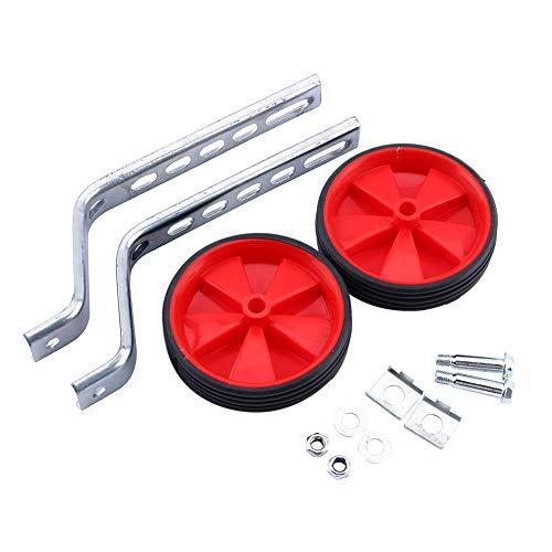 Ruedas de Entrenamiento Duraderos Red Kids Bike Estabilizadores Ajustables 12-20 Accesorio Bicicletas para ni/ños