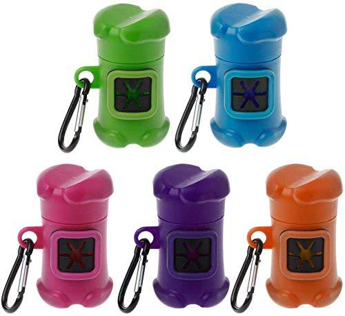 Cfbcc Bolsa de basura para perro, 1 dispensador de fertilizantes, con 1 bolsa de fertilizante para perro bolsa de almacenamiento y 100 bolsas para caca de perro