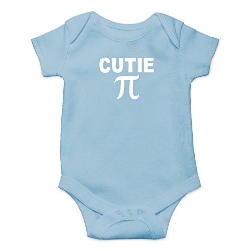 Crazy Bros Tees Cutie Pie - Math Parody Funny Cute Novelty Infant One-Piece Baby Bodysuit (6 Months, Light Blue)